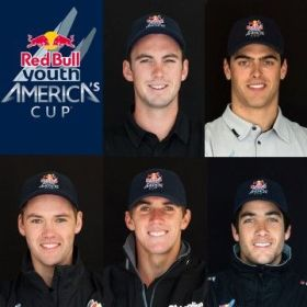 Die fünf Skipper, der Siegerteams mit Philipp Buhl