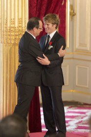 Francois Gabart, Francois Hollande, Vendée Globe
