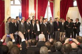 Francois, Gabart, Francois Hollande, Vendée Globe