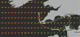 Bahnverkürzung beim Normandy Channel Race