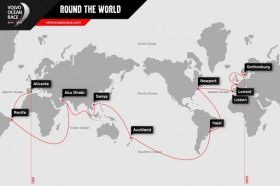Der neue Kurs beim Volvo Ocean Race 2014 - 15.