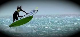 Freestyle Windsurfer vor Bonaire