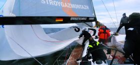 Swan 60 Spinnaker Drop beim German Offshore Challenger