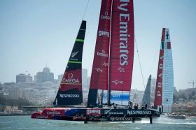 Emirates Team New Zealand Luna Rossa.