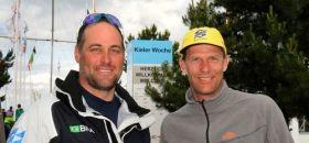 Robert Scheidt (r.) segelt Laser, Bruno Prada Finn