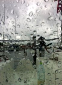 Ærøskøbing im Regen