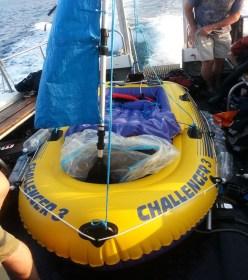 irische See, Rettung, Schlauchboot
