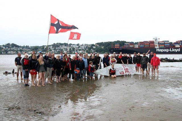 Fußball auf der Sandbank