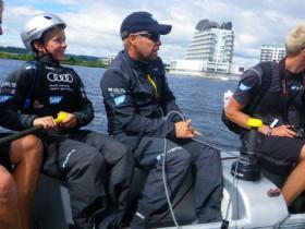 Ein Erlebnis der besonderen Art: Nils live mit an Bord © Julian Sternbeck