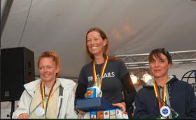 Gitta Stehnhusen / GER (Mitte): Europameisterin in der Yachtklasse