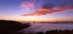 Naturschauspiel Nebel über San Francisco