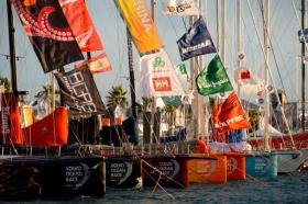 Die Volvo 70 Flotte von 6 Teams waren am Start. 2014 sollen mindestens 7 starten, davon haben 2 bis heute verbindlich gemeldet © Volvo Ocean Race