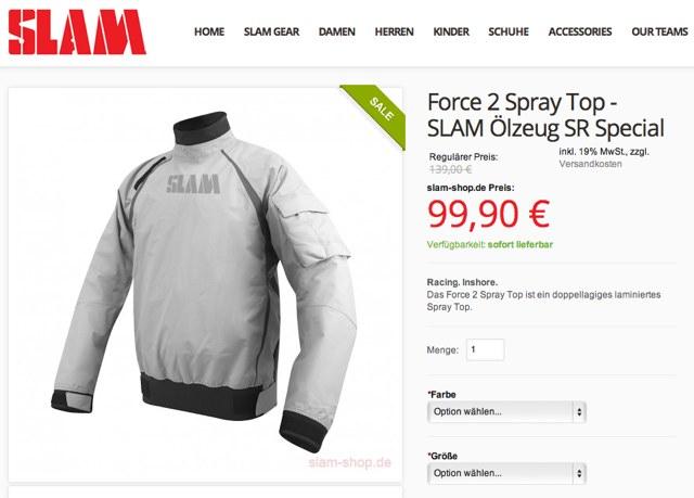 SLAM Force 2 Spray Top