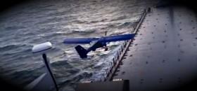 Flieger auf Frachter