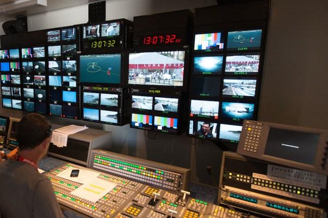Regieraum fürs AC-Spektakel © America's Cup