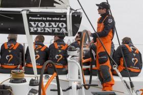 Skipper und Steuermann Charlie Enright plant für zwei Rennen rund um die Welt.  Foto: Ian Roman/Volvo Ocean Race