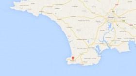 63 km westlich des bretonischen Fischerortes Penmarc'h wurde der halluzinierende Skipper gerettet © google maps
