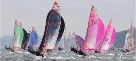 Nutzten jeden Windhauch: die 29er-Segler © www.segel-bilder.de