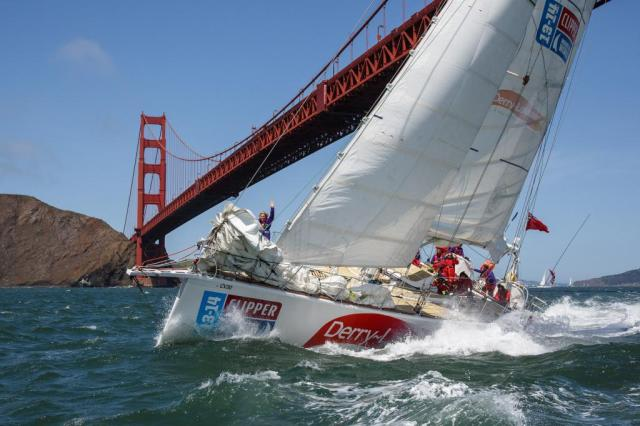 Action vor dem Etappenziel San Francisco © clipper race