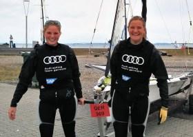 Starke Schwestern: Ann Kristin und Pia Sophie Wedemeyer © 49er sailing