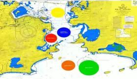 Hier die ungefähre Lage der Segelbahnen während der Olympischen Spiele