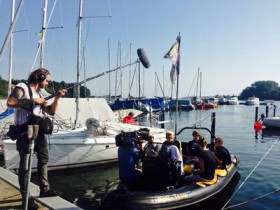 """Medienrummel"" am Rande der Regatta © dodv"