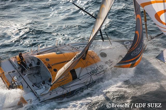 Sebastien Rogues, Überflieger in der Class 40, muss nach Segelriss aufgeben © breschi