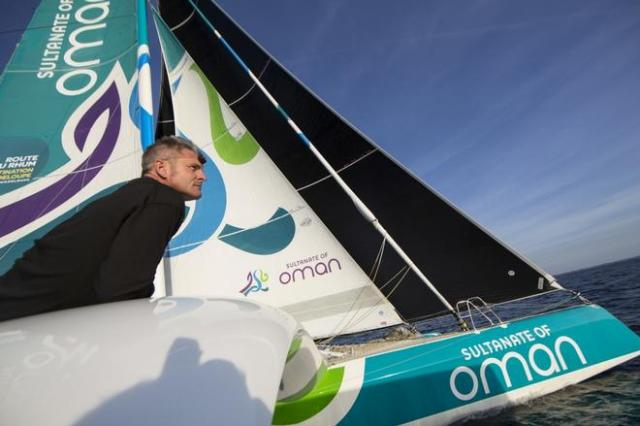 """Sidney Gavignet verliert den vierten Rang auf den letzten Seemeilen """"Bin ich sauer!"""" © Oman Sails"""