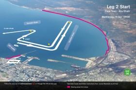Der Kurs in der Bucht nach dem Start zur zweiten Etappe.