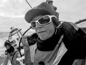 Sam Davies im Angriffsmodus. © Corinna Halloran/Team SCA/Volvo Ocean Race