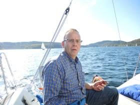 Der 54-jährige Hans-Jürgen Segbers im Attendorner Becken seines Hausreviers Biggetalsperre © Segbers