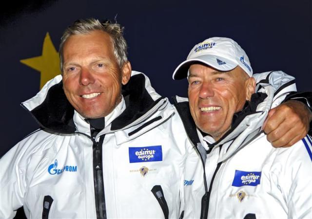Jochen Schümann (links) und Igor Simcic strahlten 35 Mal in Folge als Erste im Ziel.  Foto: Kurt Arrigo