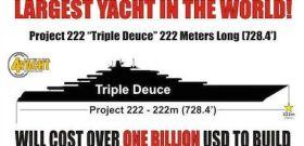 """""""Triple Deuce"""" soll die größte Yacht der Welt werden."""