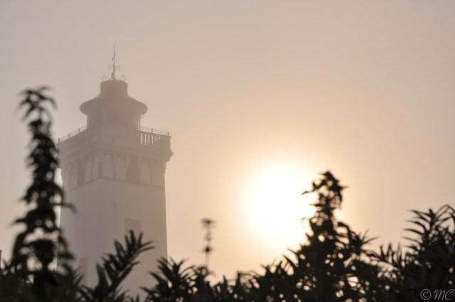Der Leuchtturm von Strib im Nebel © Maike Christiansen