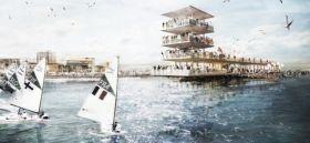 Vision 2024 für Kiel Schilksee. So sieht der Wind leider selten vor Ort aus. Visualisierung: Monokrom, Hamburg