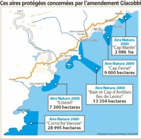 Beispiel Cote d'Azur: Ein Großteil der spannenden Küstenabschnitte könnte betroffen sein © syndicat d'initiative