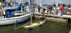 Im Hafen gesunken. © matz/shz.de