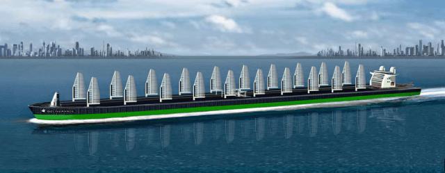 Supertanker, Hybrid, Segeln