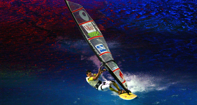 Indoor, windsurfen, Laser, Halle