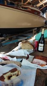 Belouga, Holzboot, Restaurierung, Frauencrew
