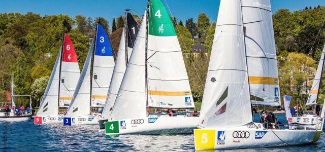 Die DSBL Flotte bei Leichtwind. © DSBL
