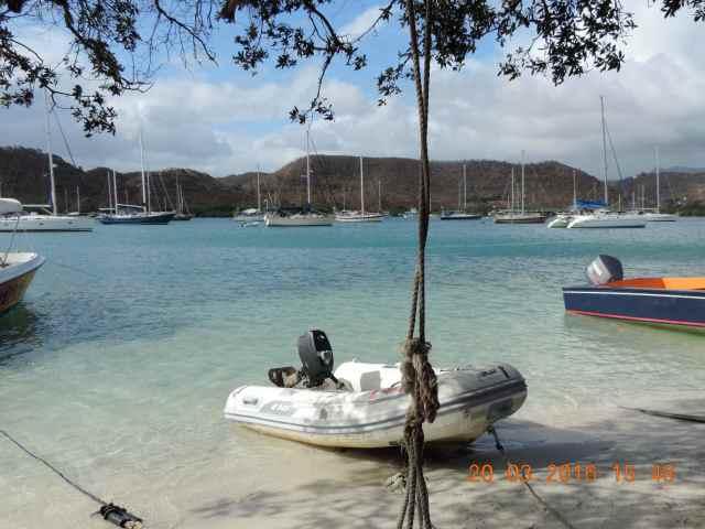 Hog Island, Karibik, Überfall
