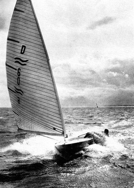 Elvströms Stärke: Überlegene Bootsbeherrschung im Finn.