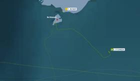 Der Zickzack-Kurs von Enda O'Coineen nach seinem Reparatur-Stupp vor Stewart Island.
