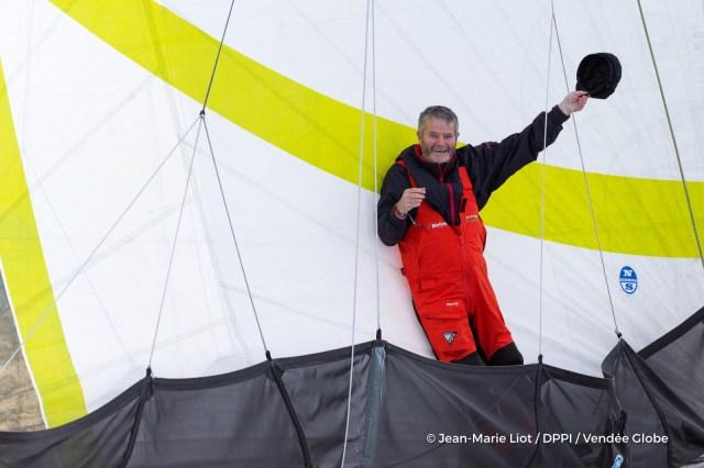 O'Coineen beim Abschied kurz vor dem Start der Vendée Globe. © Liot/DPPI