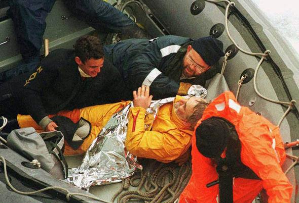 Rettung, Wunder, 1997 Vendée Globe, Bullimore