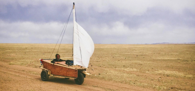 Mongolei, Strandsegler, Selbstbau