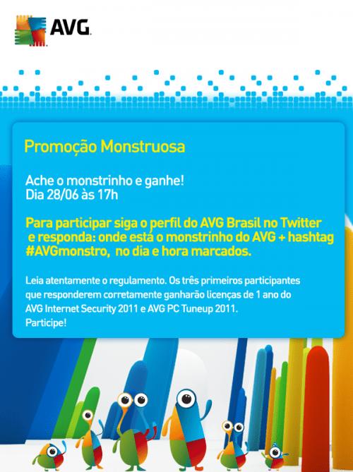 Promoção Monstro AVG Brasil