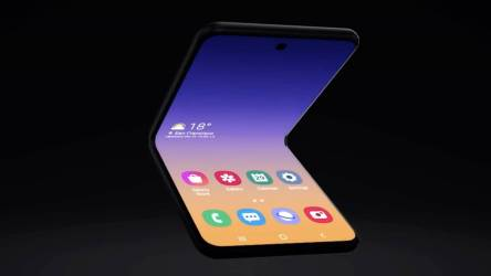 Складной Samsung Galaxy Fold 2 на видеорендере со всех сторон