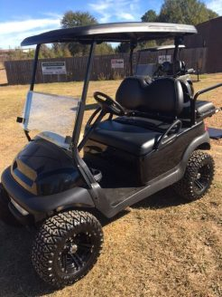 Blacked out golf cart